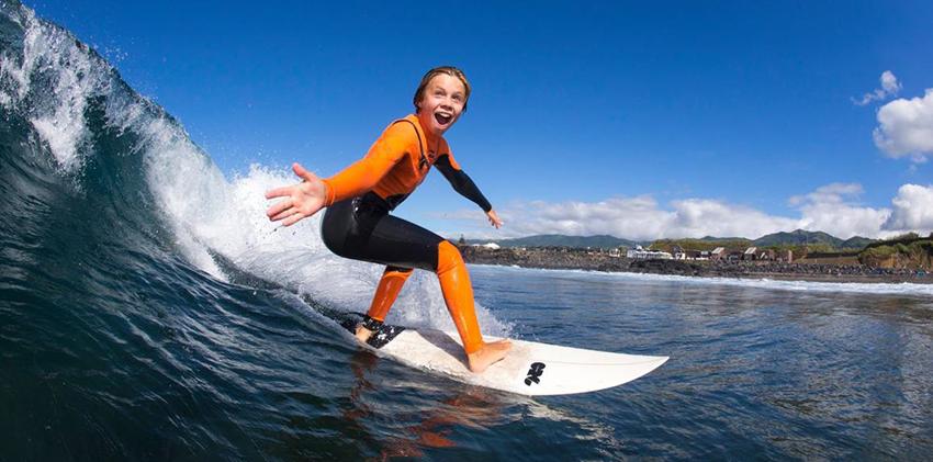 São Miguel Island - Surfing at Santa Barbara Beach