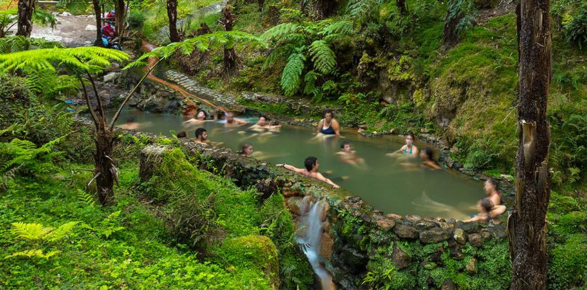 Azores, São Miguel Island - Caldeira Velha's Thermal Pools