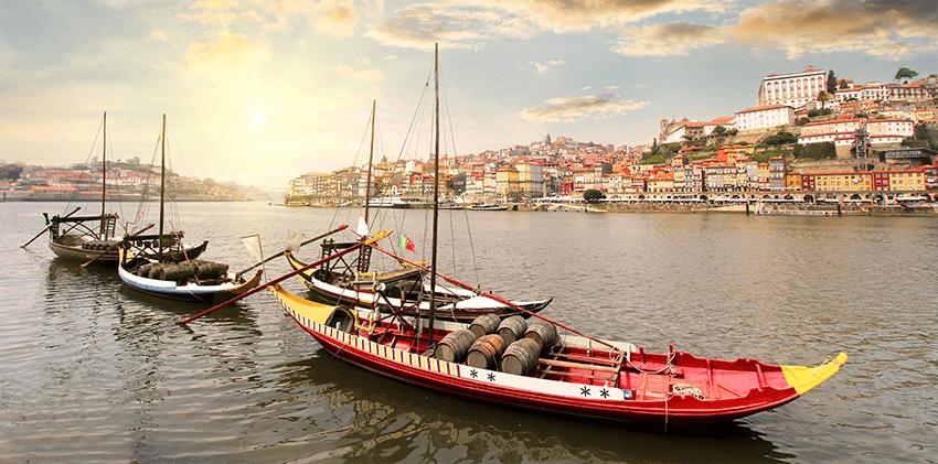Portugal, Oporto - Rabelo's Boats at Douro River