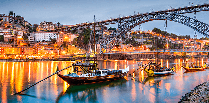 Portugal, Oporto - D. Luis Bridge, designed by Gustave Eiffel