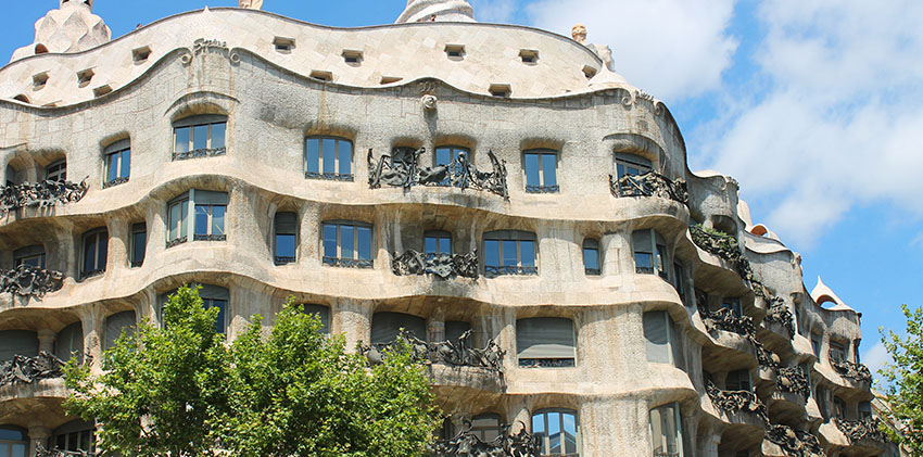 Barcelona, Spain - Casa Milà, popularly known as