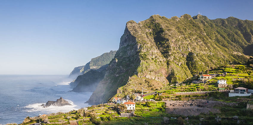 Madeira - Dramatic Landscape at Northern Coast Near Boaventura