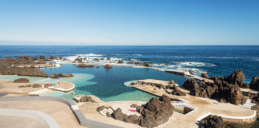 Madeira - Volcanic Lava Swimming Pool at Porto Moniz