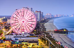 Enjoy a city break in Myrtle Beach: Flight + 3* or 4* Hotel