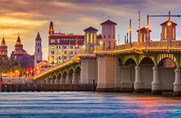 Enjoy a city break in Saint Augustine: Flight + 3* or 4* Hotel