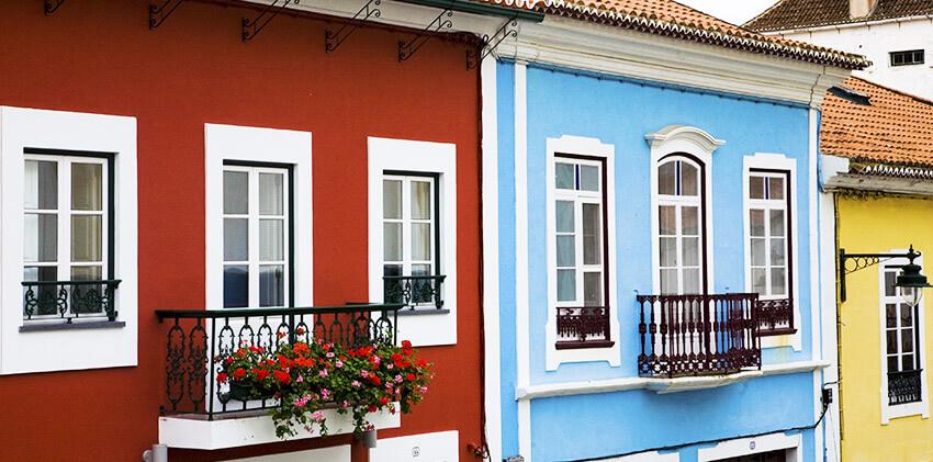 Colorful houses at Angra do Heroísmo