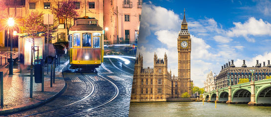 Lisbon Stopover | London: Visit two cosmopolitan cities rich in history, culture, art and music. Spend 5 nights in London and 3 nights in Lisbon.