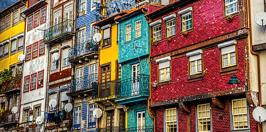 Portugal, Oporto - Colorful Houses