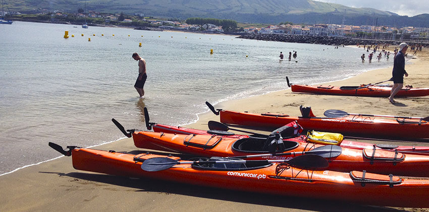 Azores, Terceira Island - Kayaking at Praia da Vitória